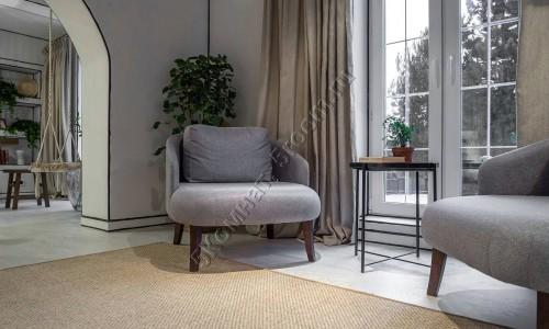 Фото интерьера №10 с ковром из сизаля 1,97 м х 2,7 м