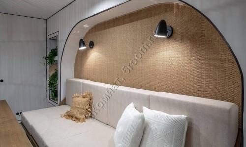 Фото №14 декор стены из сизаля