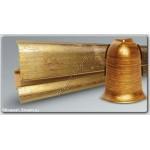 Плинтус с кабель-каналом из ПВХ (металлик) золото под старину, 2.5 м