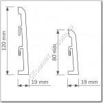 Плинтус ПВХ 120 мм, белый, 2.5 м